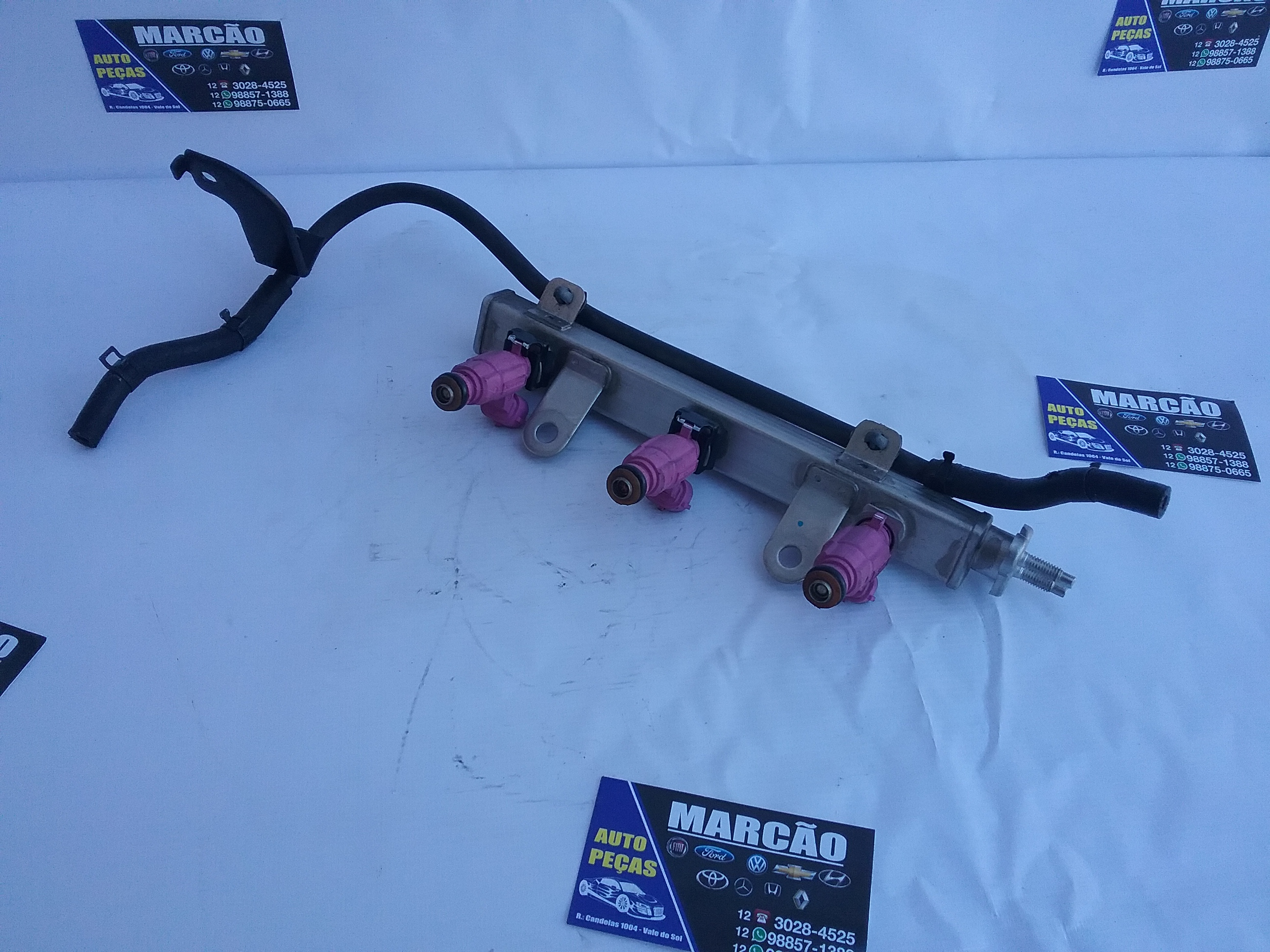 Flauta com bicos injetores HB20 1.0 3 cilindros 2014