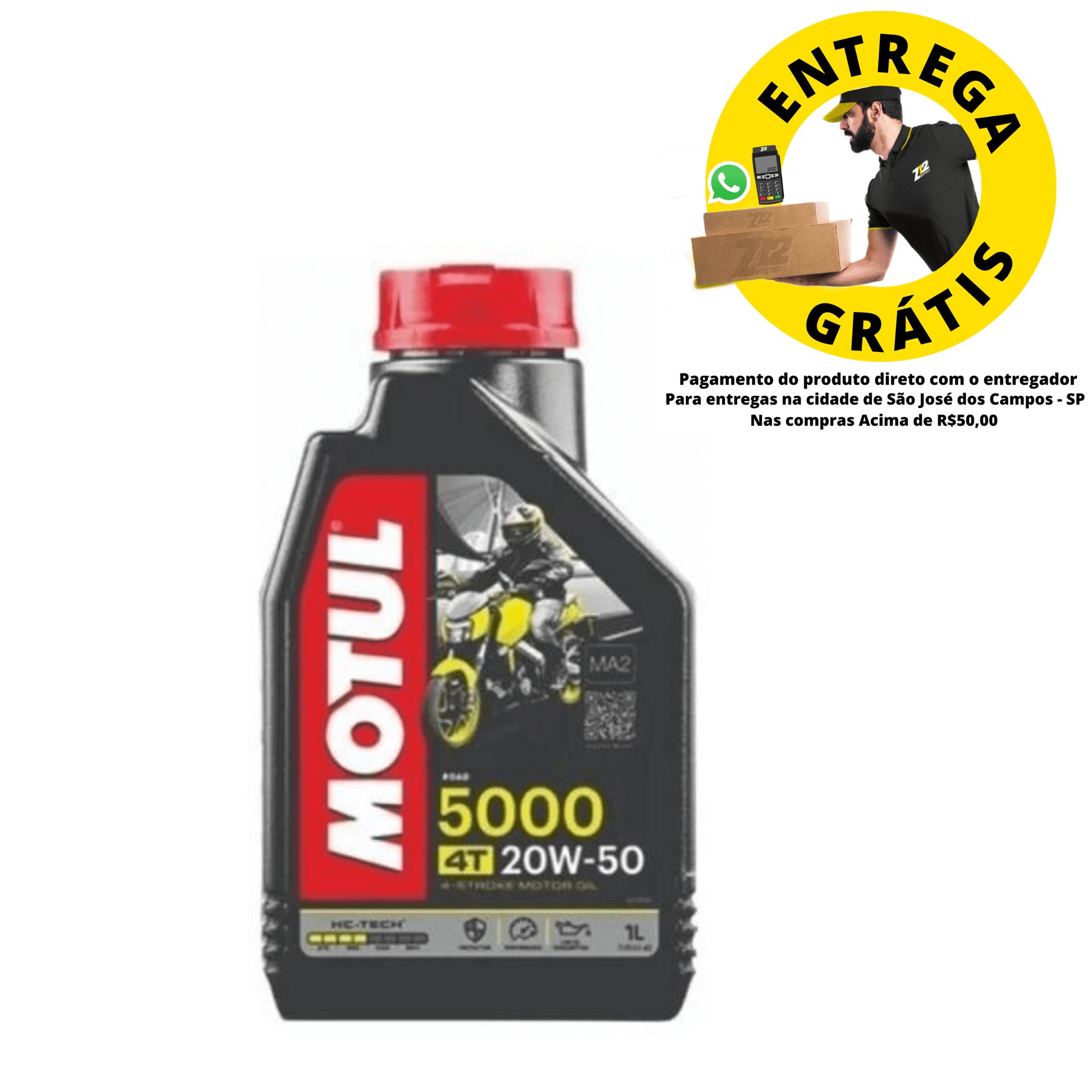 Oleo moto Motul 5000 20W50 4T - Titan / Falcon / Twister até 2008