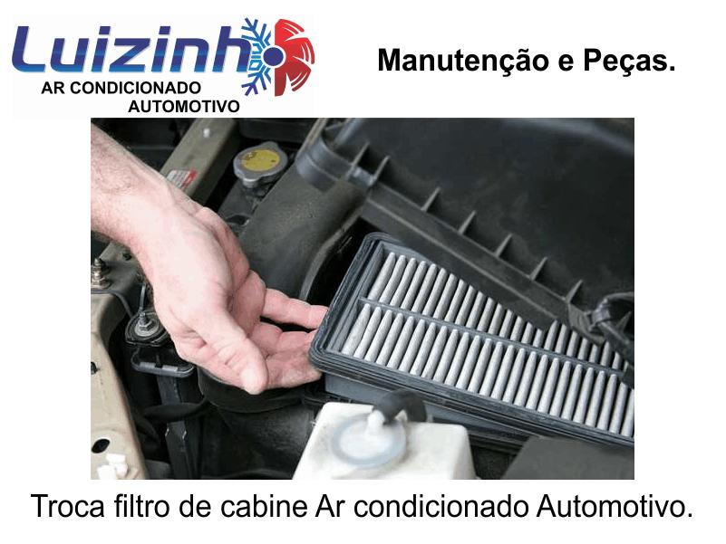 Troca do filtro de cabine ar condicionado automotivo